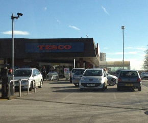 Tesco Brownhills - Car Park View - Main Entrance