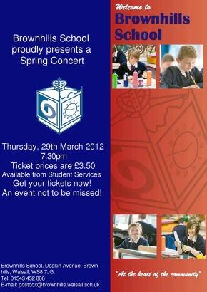 Brownhills School Spring Concert