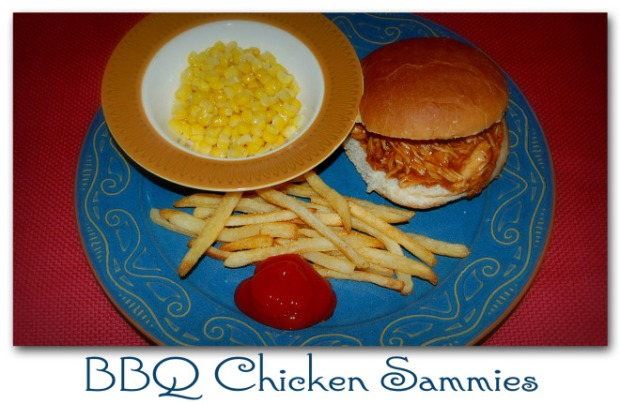 BBQ Chicken Sammies with Dishin' with Dixie