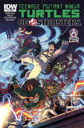 """Teenage Mutant Ninja Turtles/Ghostbusters"" #1 Exclusive cover by Jerry Gaylord and Emilio Lopez"